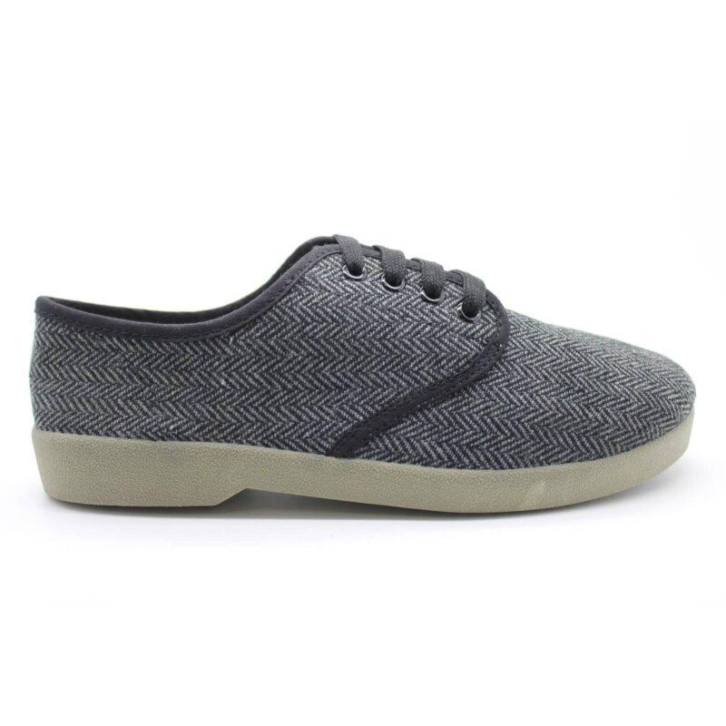 Zig Zag Wino Shoes Herringbone Gray/Gum Sole 7210