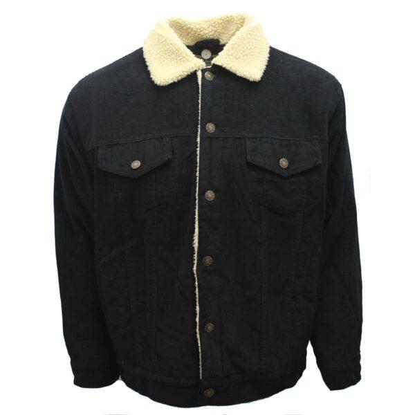 Black Corduroy Sherpa Jacket