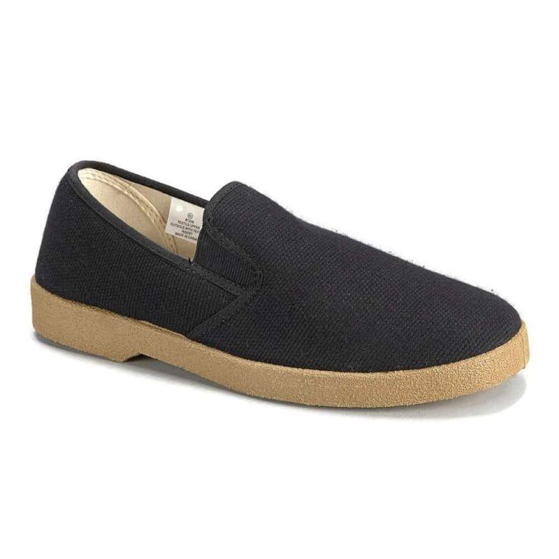 Zig Zag Slip-On Shoes Black/Gum Sole 7206
