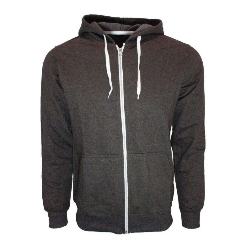 Brown French Terry Zip Hoodie