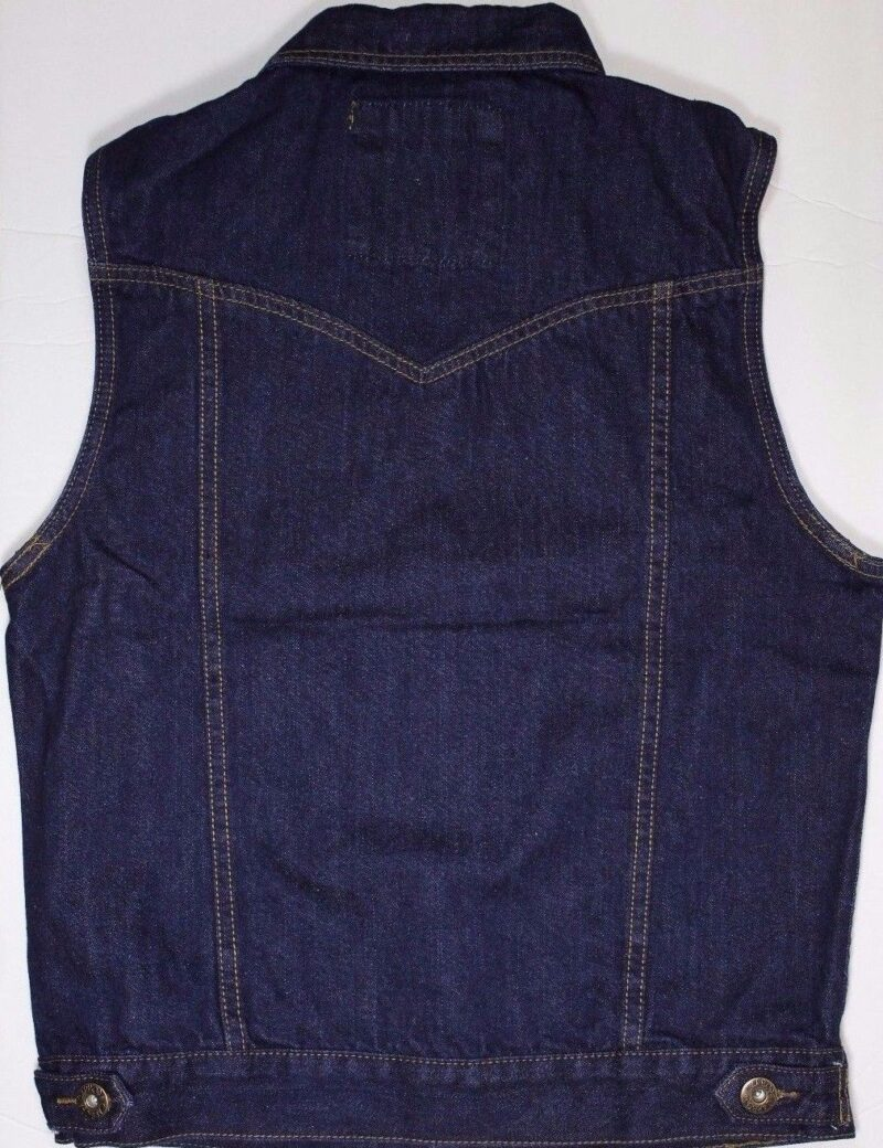 Dark Blue Denim Vest 1