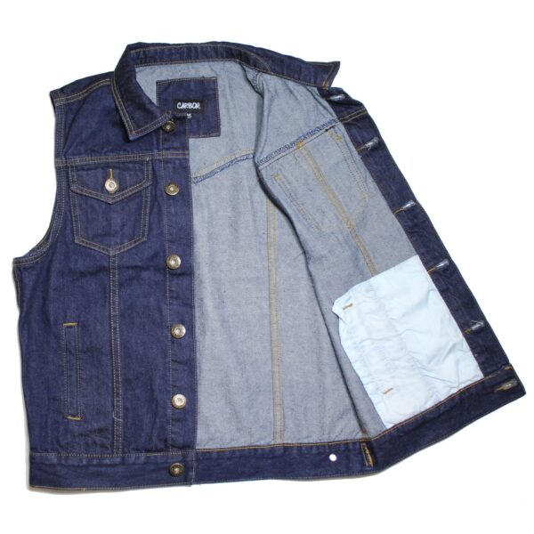Dark Blue Denim Vest