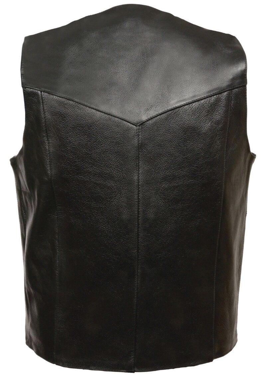 Plain Black Leather Vest by Milwaukee Leather 1