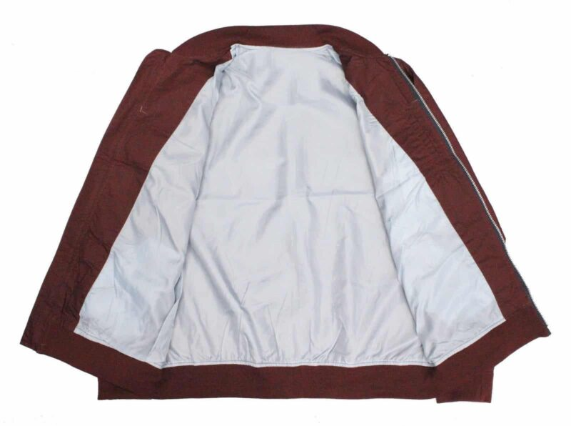 Burgundy Lightweight Bomber Jacket 1