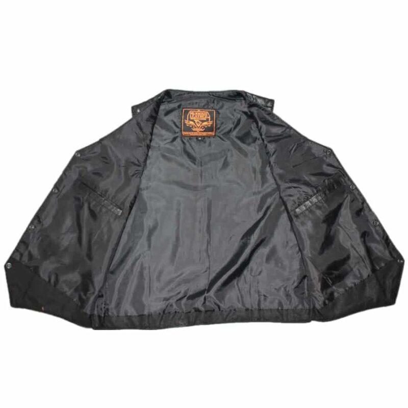 Plain Black Leather Vest by Milwaukee Leather 3