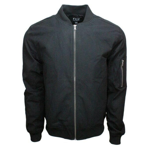 Black Bomber Jacket with Side Zip Pocket