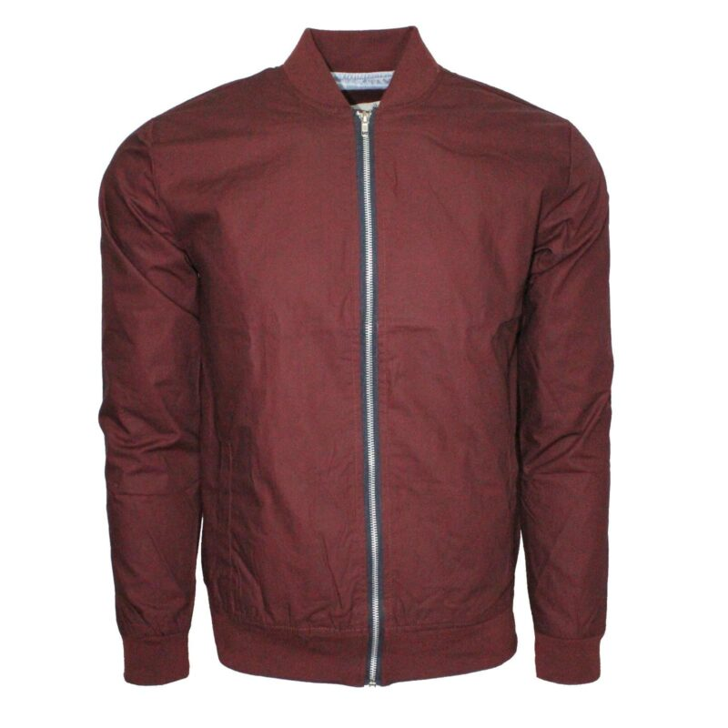 Burgundy Lightweight Bomber Jacket