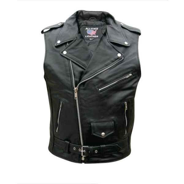 Buffalo Leather Biker Vest