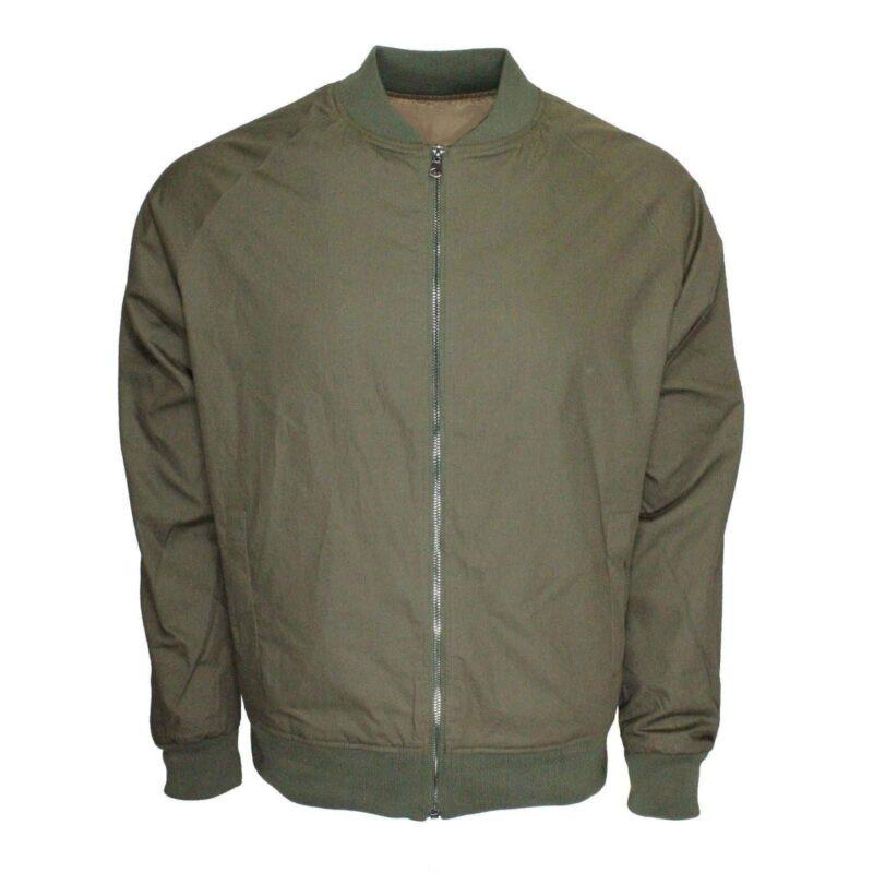 Olive Lightweight Bomber Jacket
