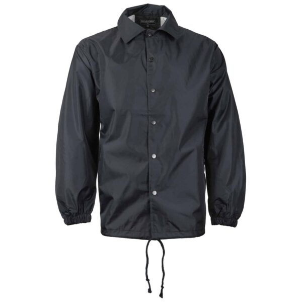 Black Nylon Windbreaker Jacket