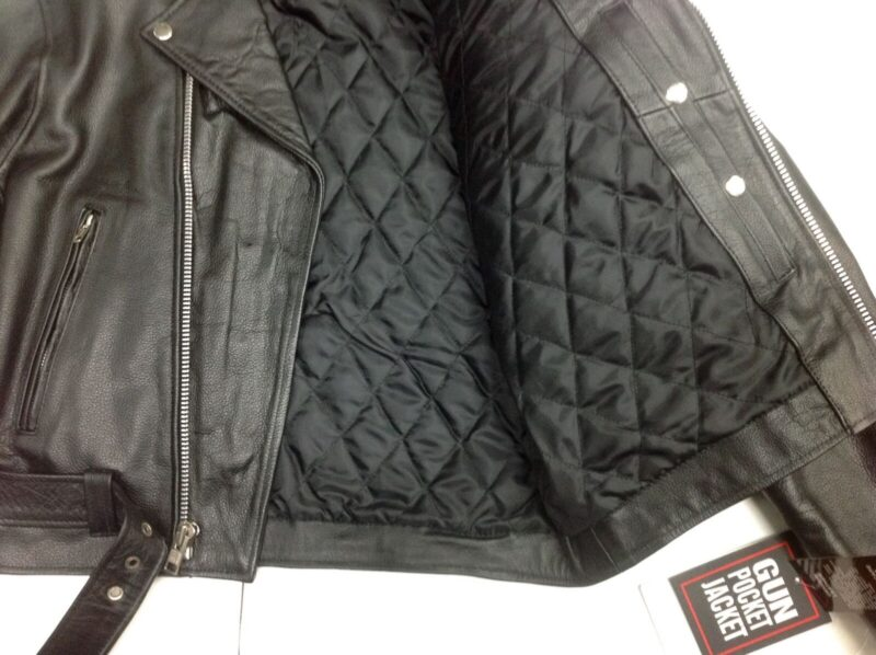 Black Buffalo Leather Belted Biker Jacket 2
