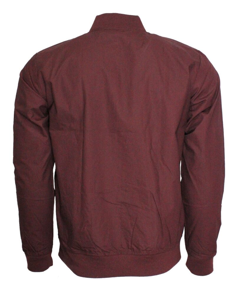 Burgundy Lightweight Bomber Jacket 2