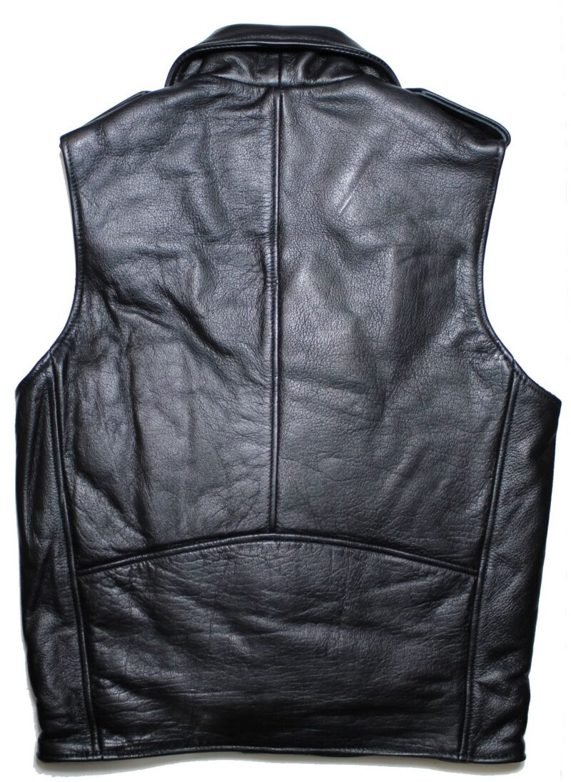 Black Buffalo Leather Biker Vest 4