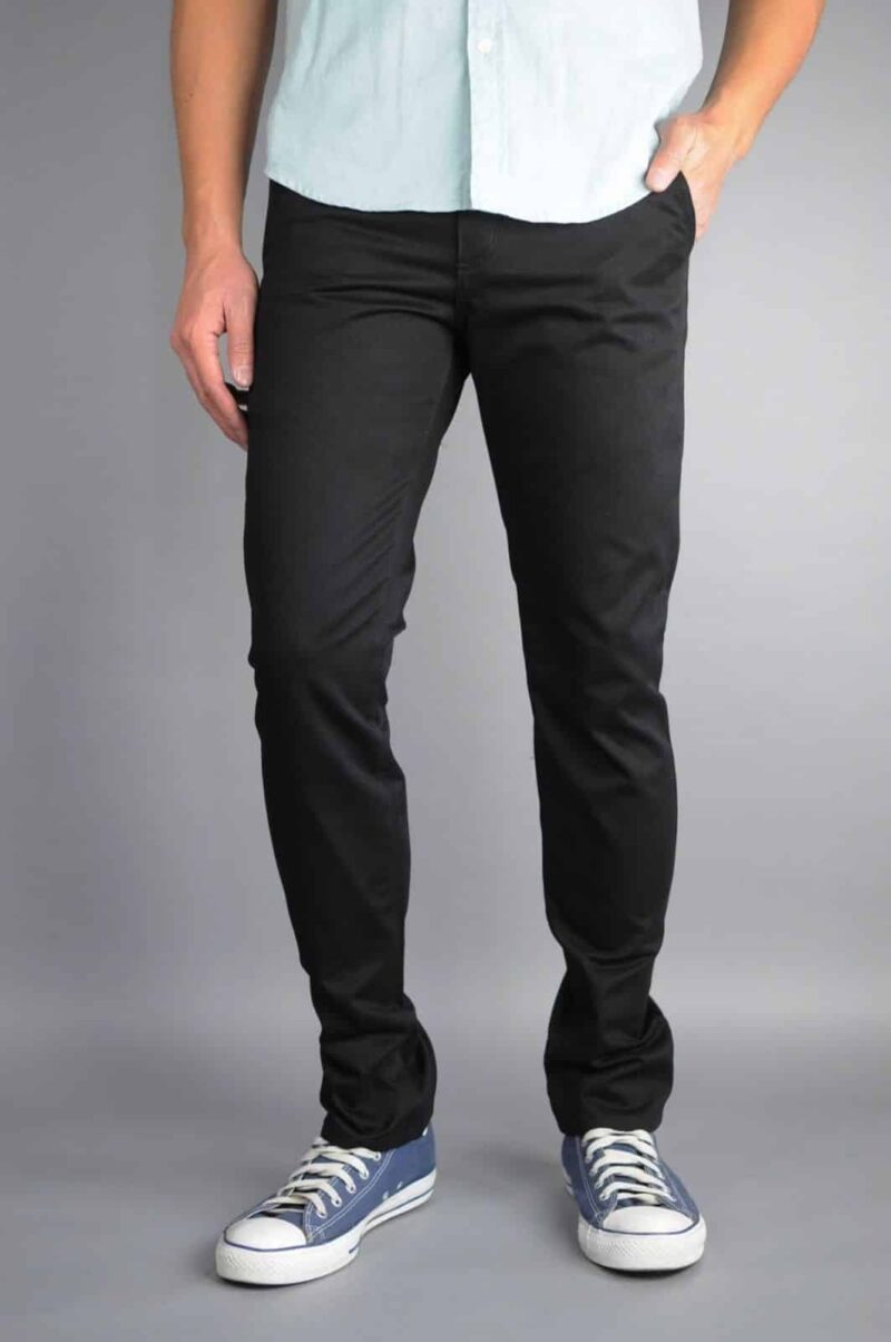 Black Chino Pants by Neo Blue Pants Premium
