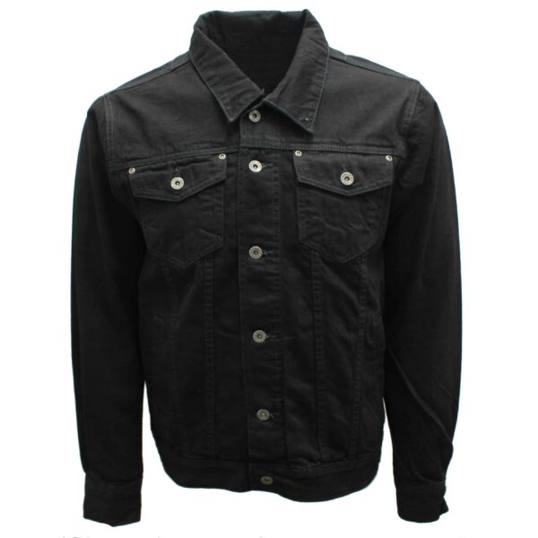 Premium Black Denim Trucker Jacket