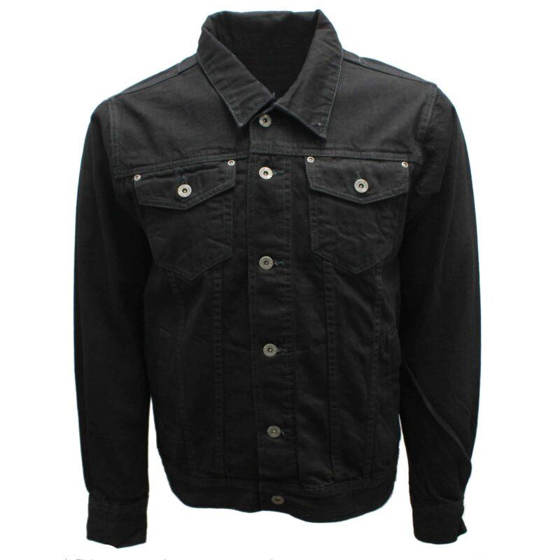 Premium Black Denim Trucker Jacket