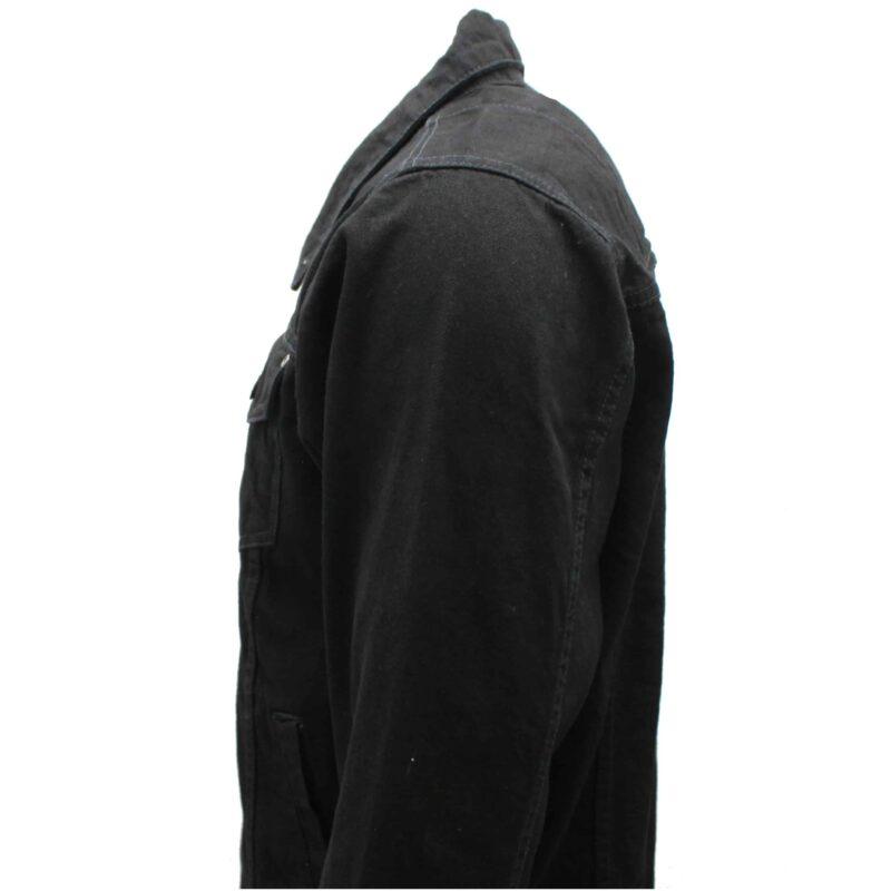 Premium Black Denim Trucker Jacket 1