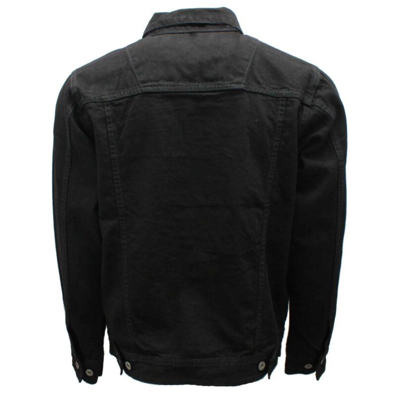 Premium Black Denim Trucker Jacket 2