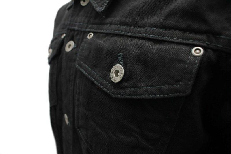 Premium Black Denim Trucker Jacket 3