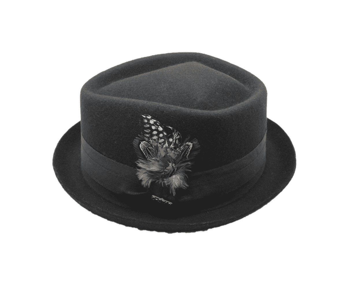 980066e8 Click to enlarge. HomeALL ACCESSORIESHats Wool Felt Fedora Diamond Crown  Pork Pie Stingy ...