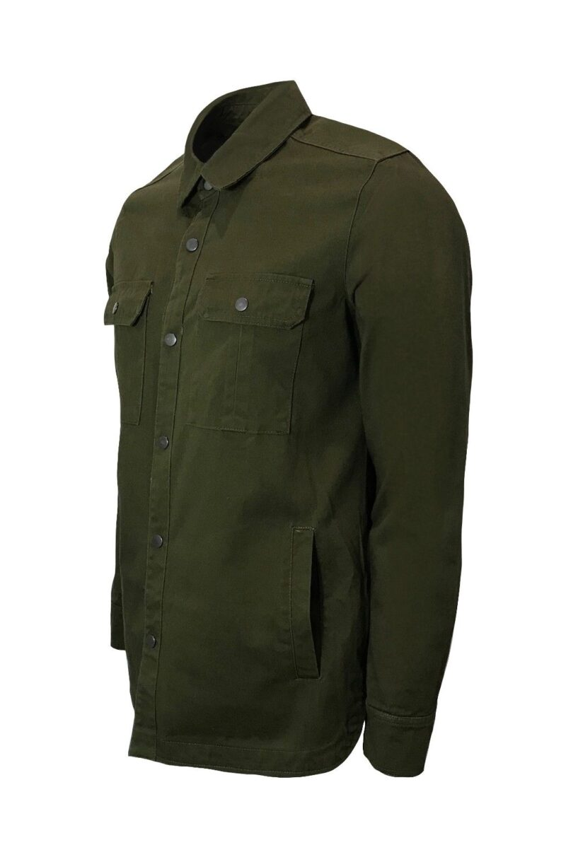 Olive Military Style Shirt 1
