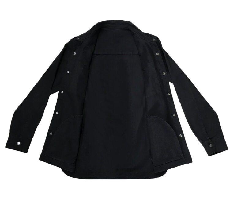 Black Military Style Shirt 1