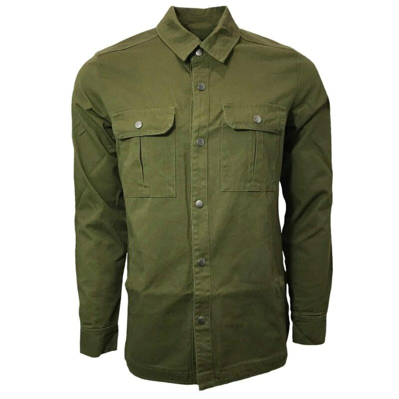 Olive Military Style Shirt