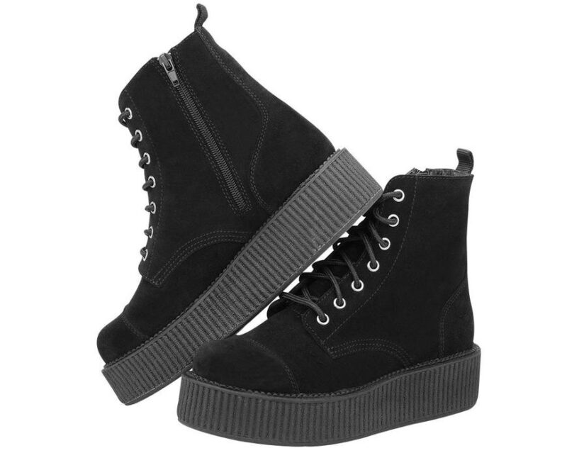 TUK Black Suede Mondo Boot A8642L 1