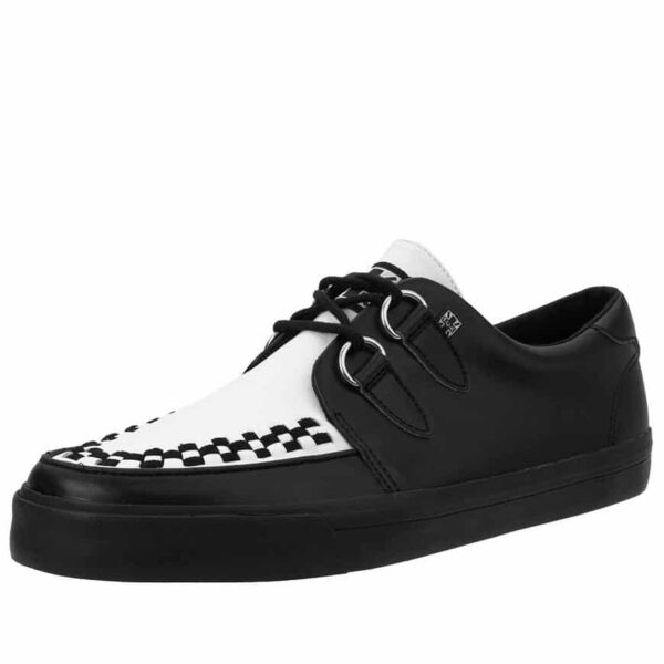 TUK Black and White Sneaker Creeper A9180