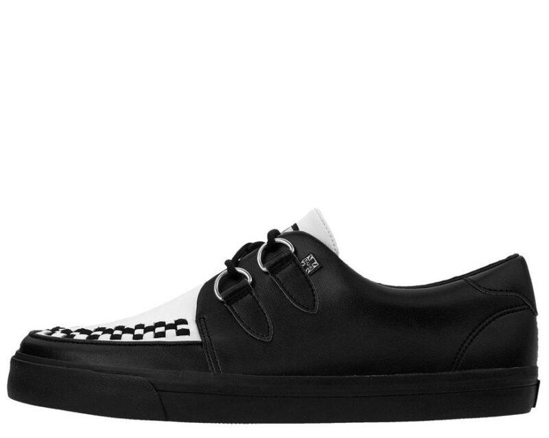 TUK Black and White Sneaker Creeper A9180 2