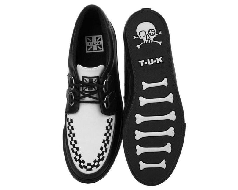 TUK Black and White Sneaker Creeper A9180 3