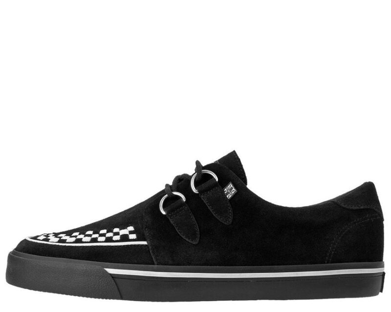 TUK Black and White Suede Sneaker Creeper A9182 2
