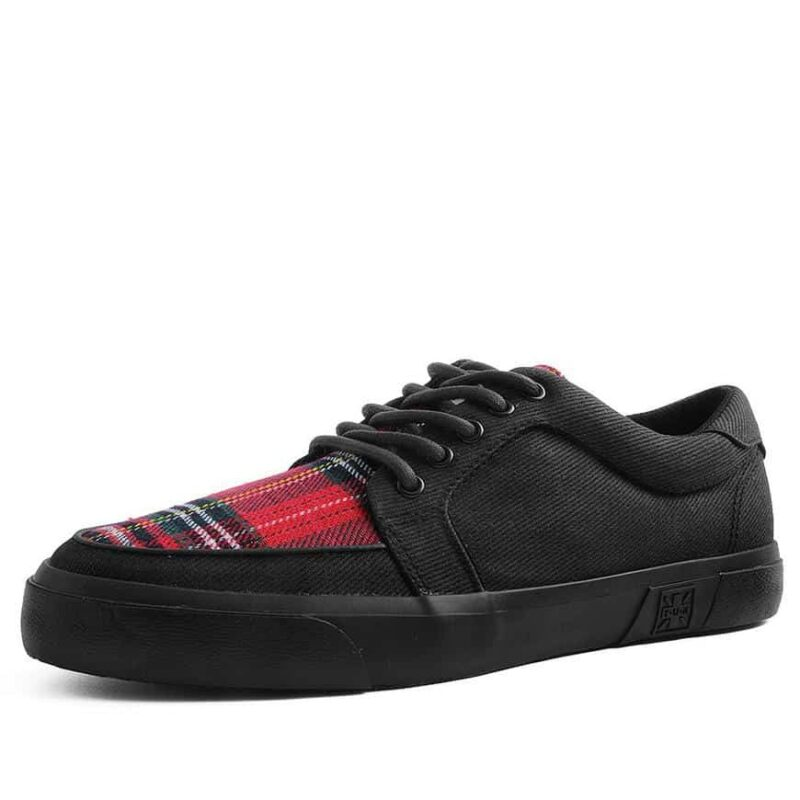 TUK Canvas Red Plaid Sneaker Creeper A9300