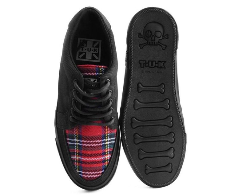 TUK Canvas Red Plaid Sneaker Creeper A9300 3