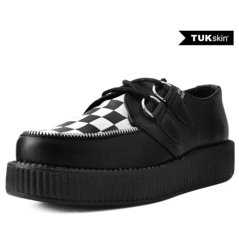TUK Black White Check Mondo Creeper