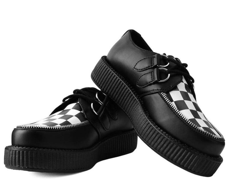 TUK Black White Check Mondo Creeper V9536 1