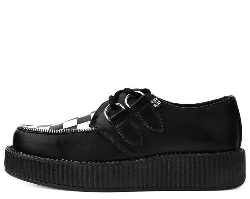 TUK Black White Check Mondo Creeper V9536 2