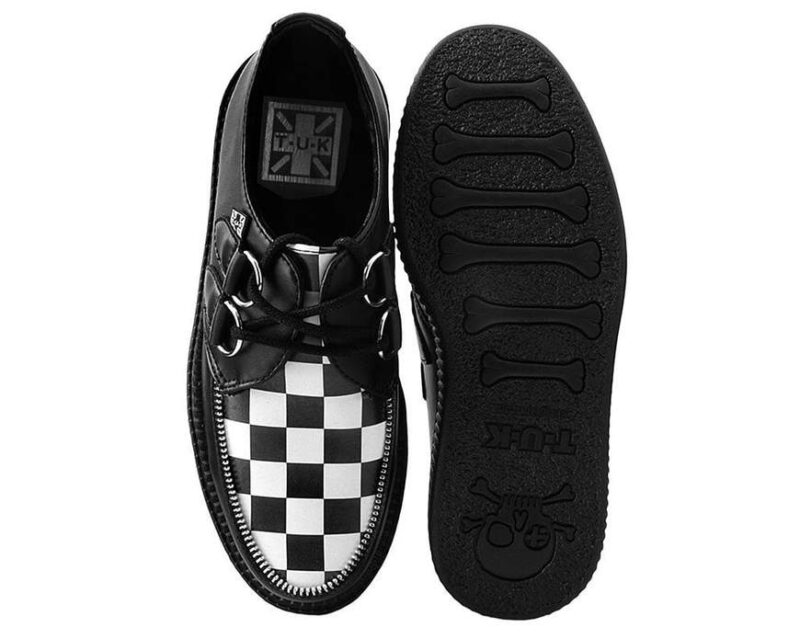 TUK Black White Check Mondo Creeper V9536 3