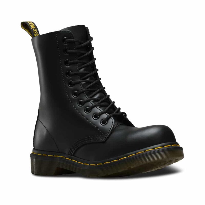 Dr. Martens 1919 Black Fine Haircell Steel Toe 10-Eye Boot