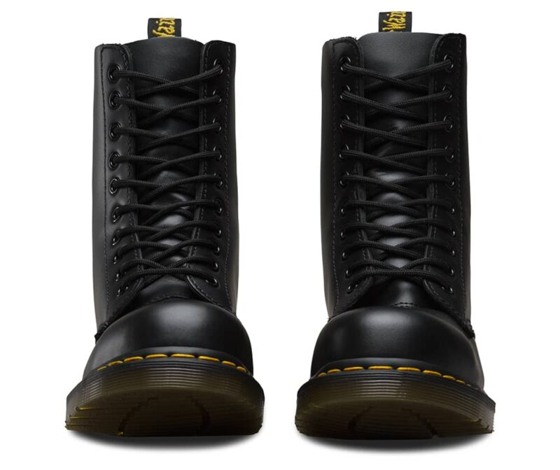 Dr. Martens 1919 Black Fine Haircell Steel Toe 10-Eye Boot 2