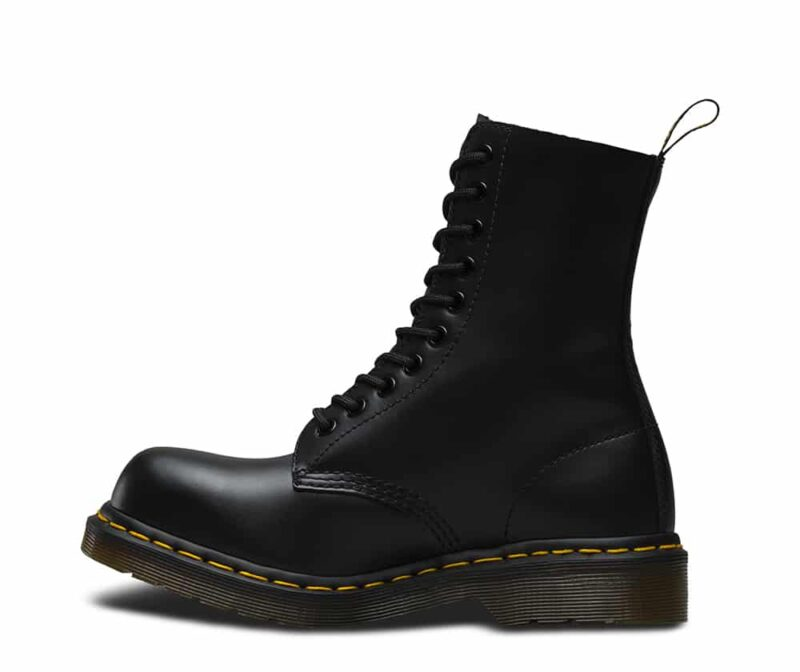 Dr. Martens 1919 Black Fine Haircell Steel Toe 10-Eye Boot 3
