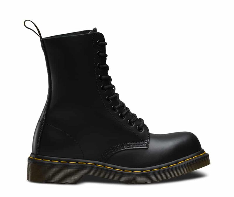 Dr. Martens 1919 Black Fine Haircell Steel Toe 10-Eye Boot 1