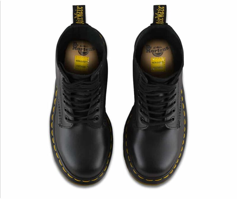 Dr. Martens 1919 Black Fine Haircell Steel Toe 10-Eye Boot 6