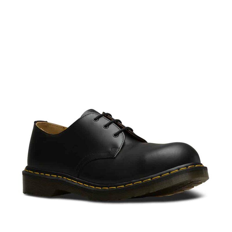 1925 5400 Black Fine Haircell Steel Toe Cap 3-Eye Shoes 1