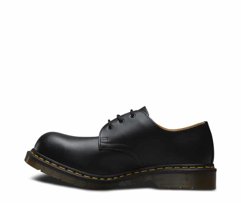 1925 5400 Black Fine Haircell Steel Toe Cap 3-Eye Shoes 4