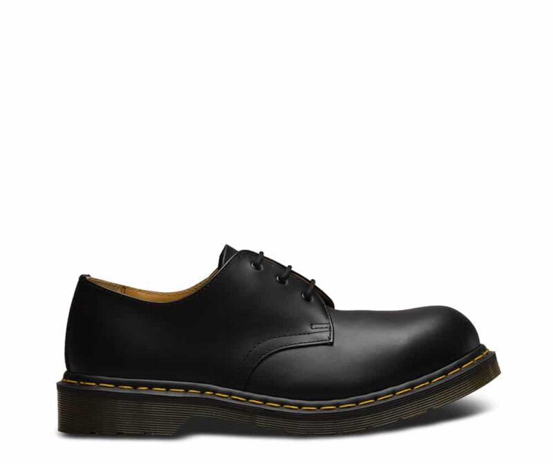 1925 5400 Black Fine Haircell Steel Toe Cap 3-Eye Shoes 2