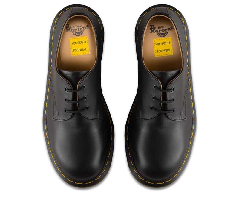 1925 5400 Black Fine Haircell Steel Toe Cap 3-Eye Shoes 7