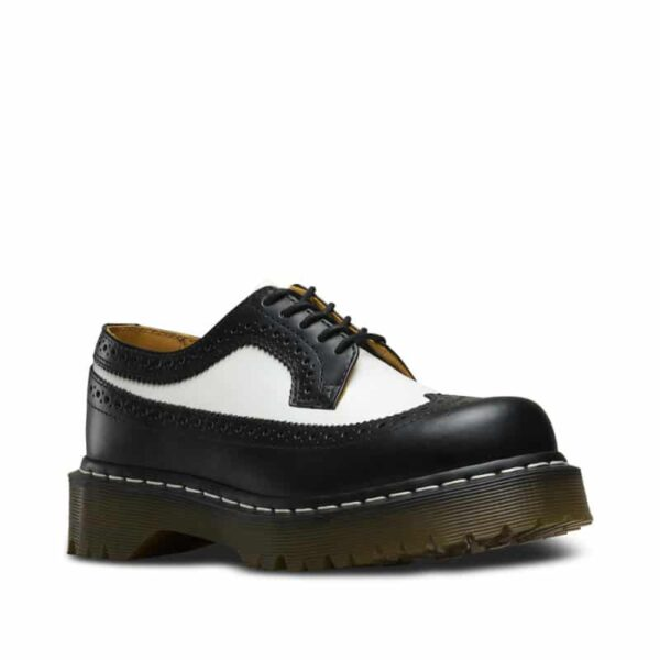 Dr. Martens 3989 Brogue BEX Black and White 3-Eye Shoe