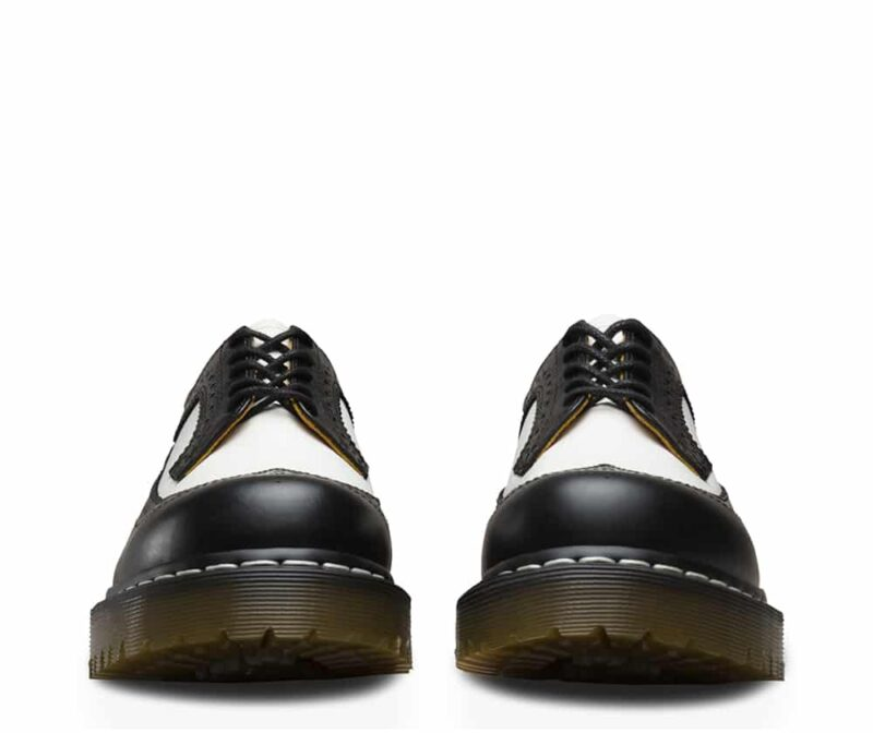 Dr. Martens 3989 Brogue BEX Black and White 3-Eye Shoe 2