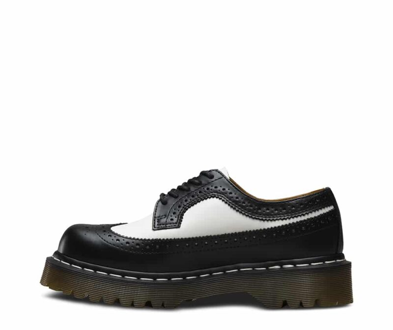 Dr. Martens 3989 Brogue BEX Black and White 3-Eye Shoe 3